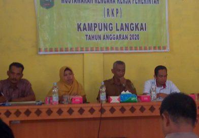 Tidak Semua Usulan Masyarakat dalam RKP Kampung Langkai dapat dikabulkan.